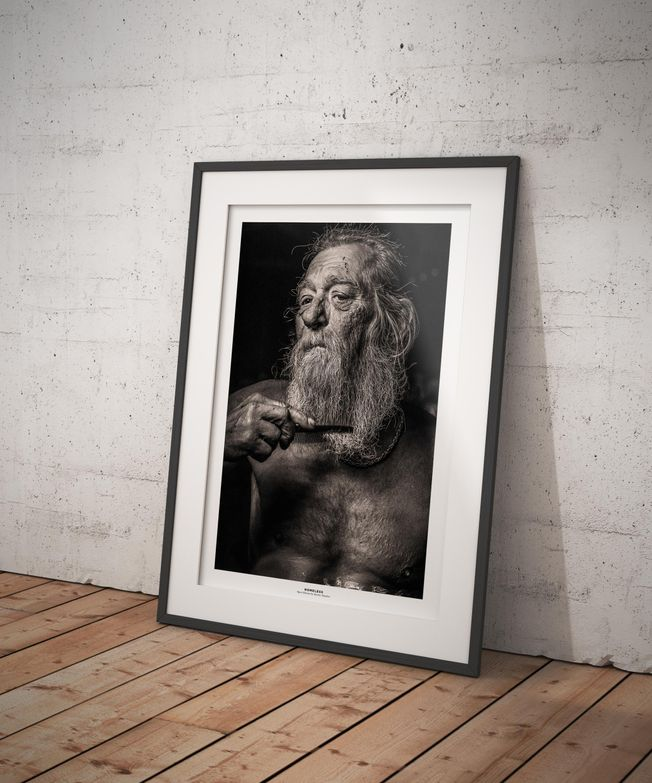 Homeless. Photo by photographer Martin Thaulow. Open Edition (seen in a frame in an environment. The frame is not part of sale). Buy high quality print.
