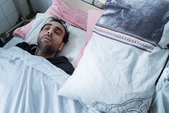 Maher Abdulfatah Mahmoud in the hospital in Sofia, Bulgaria. Photo by Martin Thaulow.