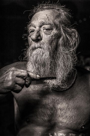 Photo of homeless man by photographer Martin Thaulow
