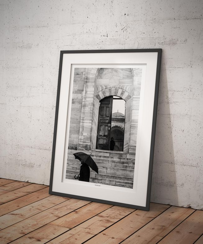 The Turkey Series - Al Fatih Mosque in Istanbul. Photo by photographer Martin Thaulow. Open Edition (seen in a frame in an environment. The frame is not part of sale). Buy high quality print.
