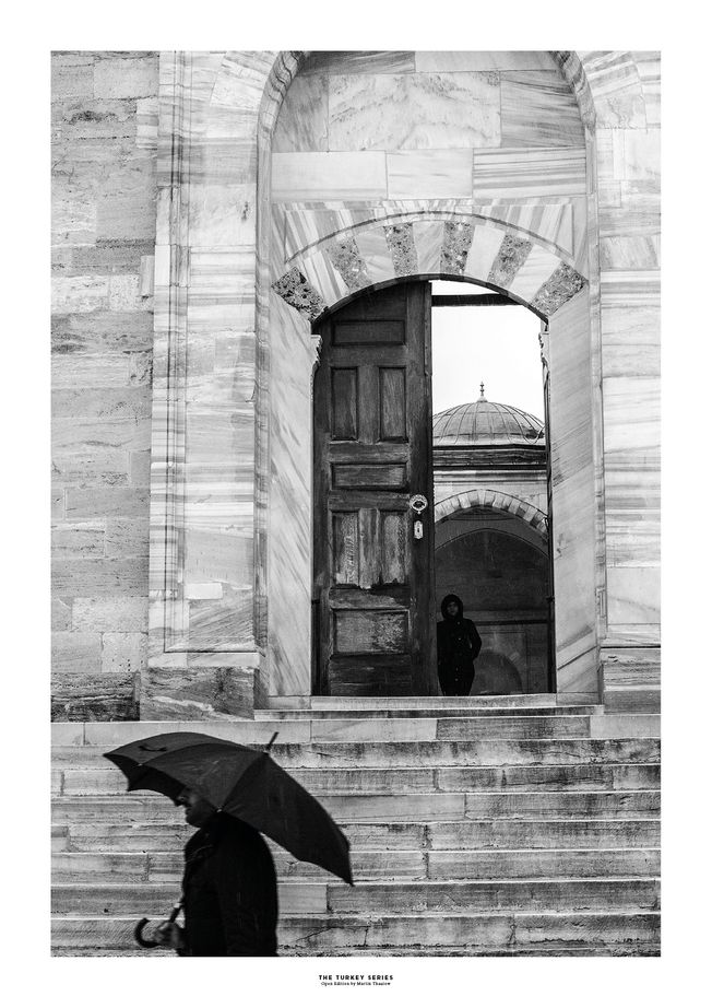 The Turkey Series - Al Fatih Mosque in Istanbul. Photo by photographer Martin Thaulow. Open Edition (seen with the white frame around the image as it is sold). Buy high quality print.